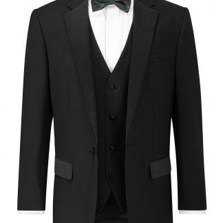 Latimer V Waistcoat In Black Formal Wear