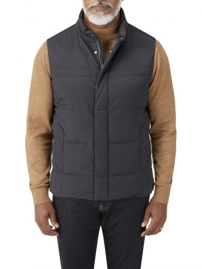 Mere Padded Gilet Navy In Colour