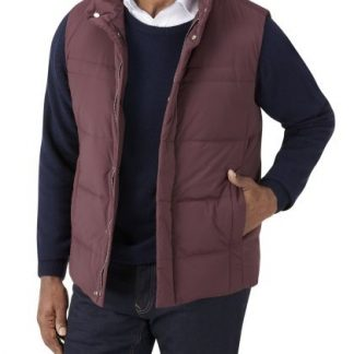 Mere Padded Gilet Wine In Colour