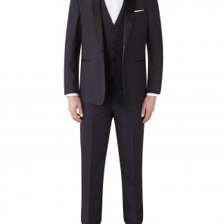 Newman-Navy-check-slim-fit-trouser