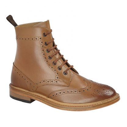 Brouge Anke Boot In Tan