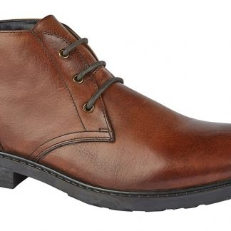 Chukka Boot Mid Brown Tumbled Leather