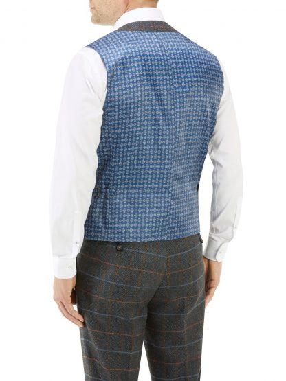 Doyle Suit Waistcoat in Herringbone Fabric.