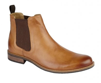 Gusset Boot In Tan Leather