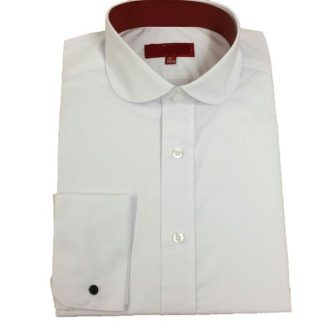 Penny Shirt Collar Standard Fit In White