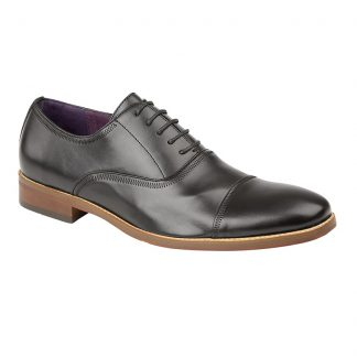 Capped Oxford Shoe In Black
